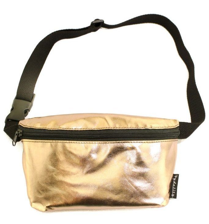 Any Rave Party Outfit Is Pretty Much Incomplete Without These Essentials. - Metallic Gold Fanny Pack