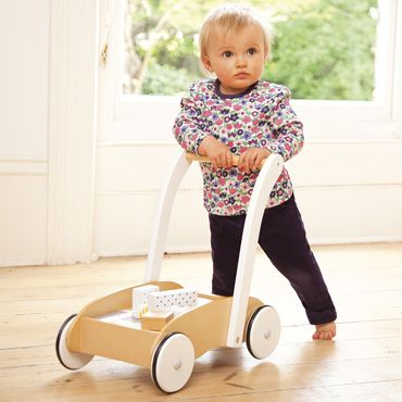 Baby Walker With Wooden Blocks, Wooden Toys, Gifts and Toys