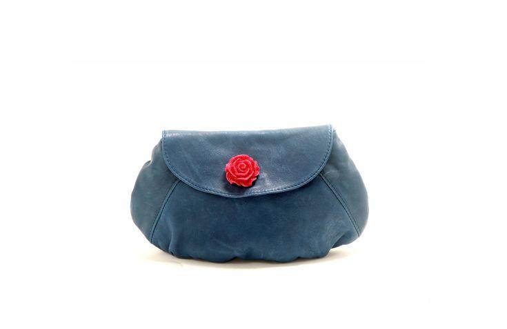 Ler clutch ,gift for her,Modular Handle,Handle Nickel ,designer bag designer bag,elegant blue evening bagather clutch bag,Royal blue Leathe by AnatAtzmon on Etsy