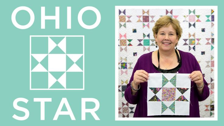 "The Ohio Star Quilt-YouTube: 14:37min-Jenny demonstrates how to make the classic Ohio Star block pattern using yardage and charm packs (5 inch squares of precut fabric. We used Regent Street by Sentimental Studios for Moda.) Learn how to make hourglass blocks, cornerstones, and how to sash a quilt. approx quilt size 88""x101"""