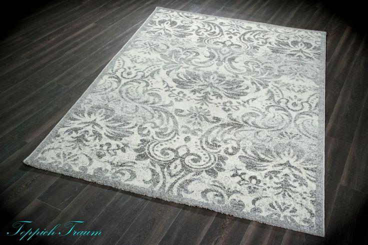 Kurzflor Teppich Chester grau creme in Möbel & Wohnen, Teppiche & Teppichböden, Teppiche | eBay