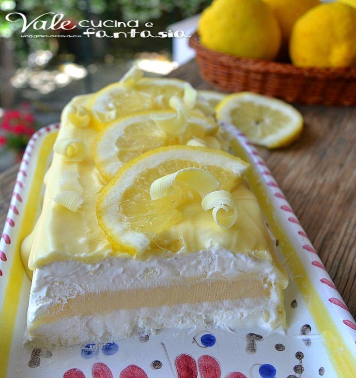Semifreddo al limone e cioccolato bianco