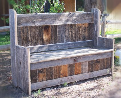 Outlaw Cowboy Furniture :: Custom Reclaimed Wood Furniture Cooler Bench