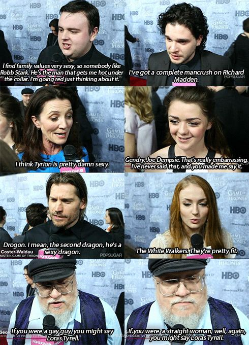 Who's sexy? I know who i think is sexy...and you? | I love Jon's answer lol. And of course I agree with Jon, Kit, Maisie, and George. <3