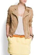 Mango Women's Motor Style Suede Jacket