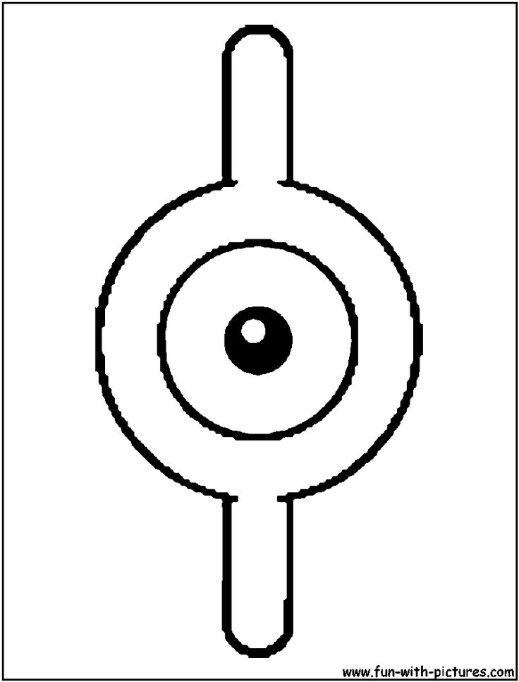 Unown I Coloring Page