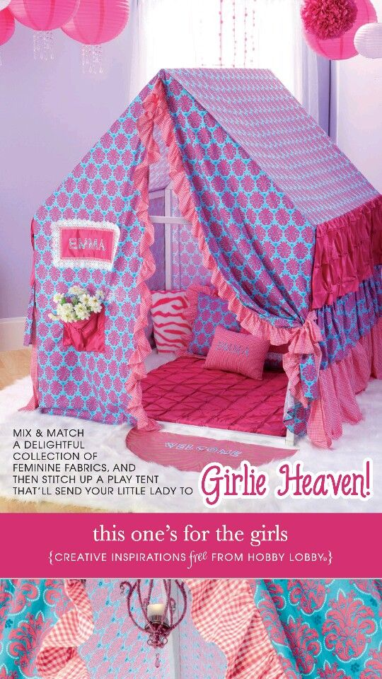 """Girls playhouse plans free from Hobby Lobby (I'm making this similar but using 3/4"""" schedule 40 PVC pipe & fittings) http://ebookbrowsee.net/adv.php?q=hl+WB+029+pdf&way=0"""