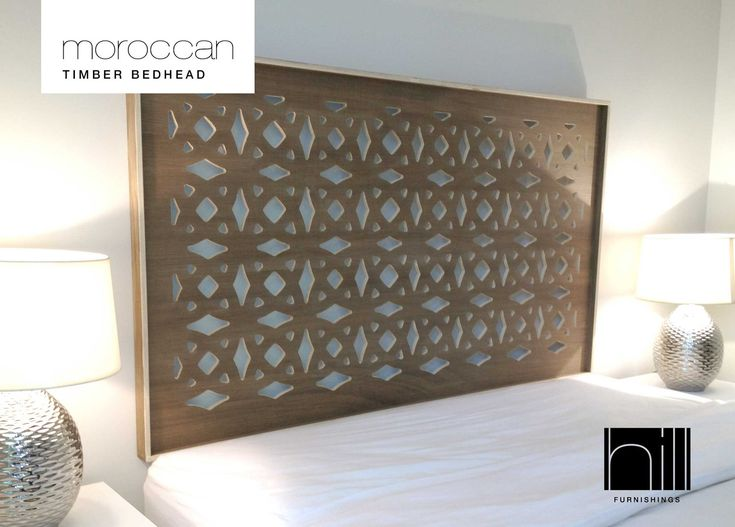 Queen Moroccan Style - Timber Bedhead - Headboard - Coco