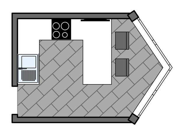 Фотография: Планировки в стиле , Кухня и столовая, Интерьер комнат, Перепланировка, объединение балкона, планировка в доме серии п 44 т, хофф, п-44т, типовая планировка, перепланировка кухни, kuhnya-8-kv-metrov – фото на InMyRoom.ru