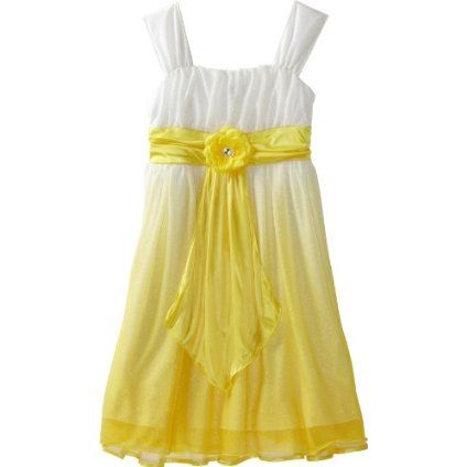 5a1411f22071 My Michelle Girls 7-16 Ombre Dress, Yellow, 16 39.50