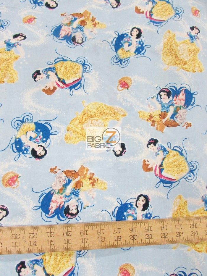 Licenced fat 1//4s Disney,Snow White Fabric,Princess 100/% cotton