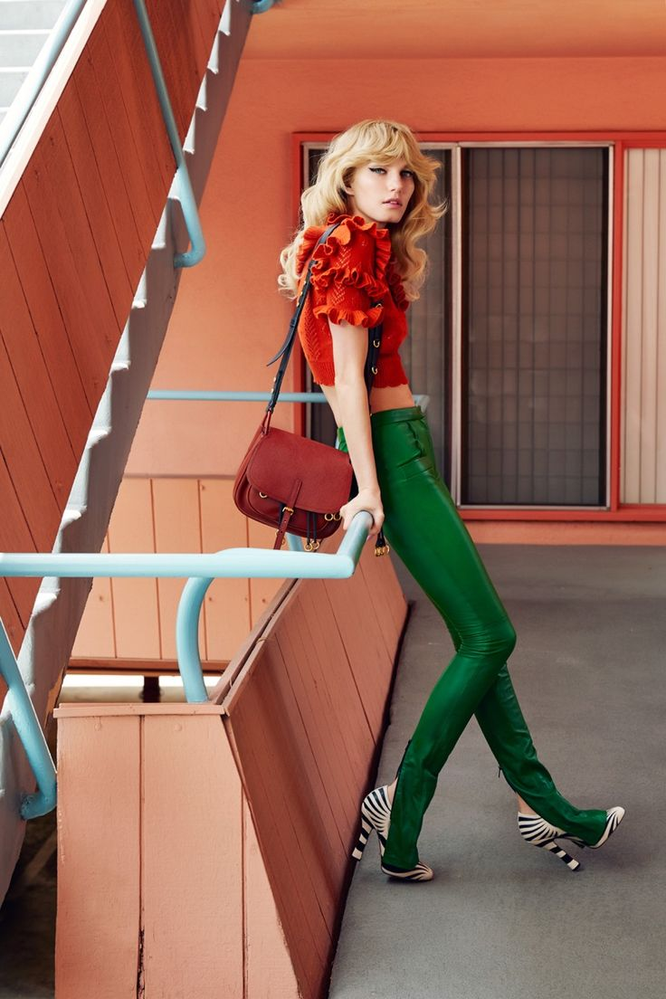 The retro trend gets a colorful update in the latest issue of Vogue Taiwan. Photography duo JUCO captures model Marique Schimmel in an editorial called, 'California Dreaming'.