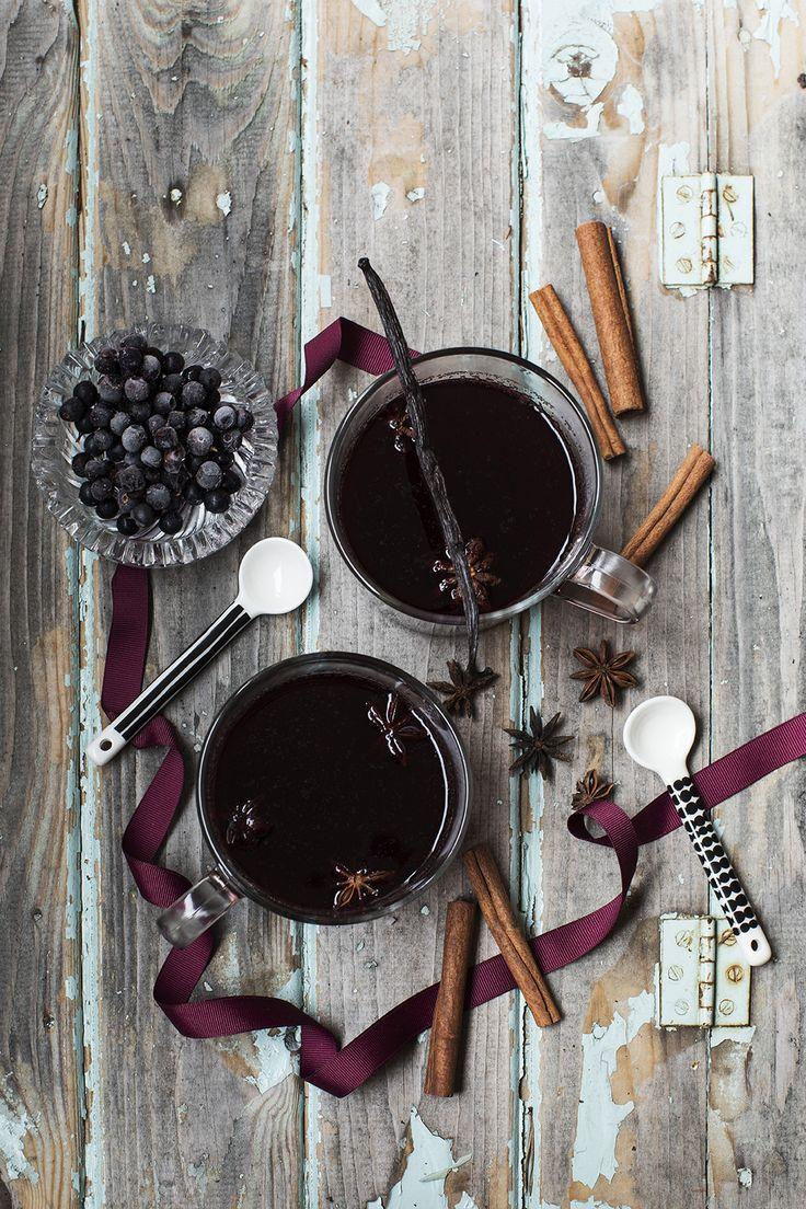 Blåbärsglögg med vanilj!