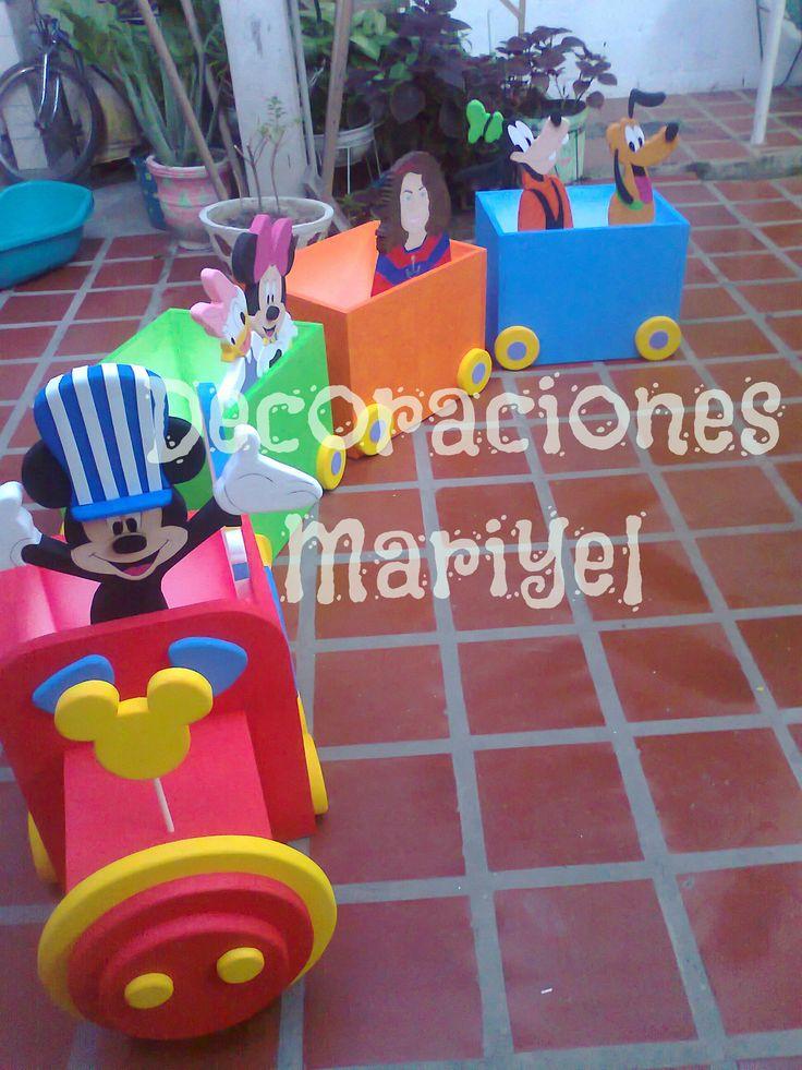 El tren de Mickey- Caja de Regalo: Children'S Parties, Ideas Parties, Box Of, Decoration, Gift, Party, De Mickey, All