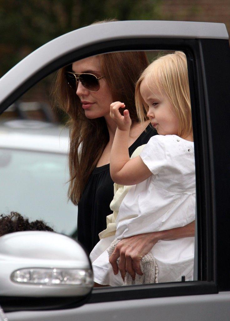 Brad Pitt Shiloh Jolie-Pitt Photos: Brad and Angelina Take the Kids to Smurfs 3D in London