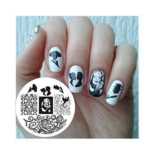 Nagel Schablone BORN PRETTY Nail Art Stamp Platte BP15 5,5cm