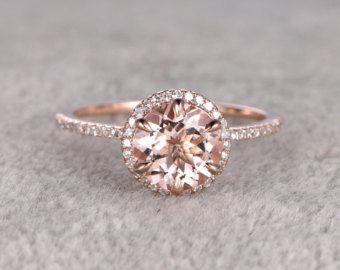 11x9mm großer Morganit Verlobungsring Rose gold Diamond von popRing