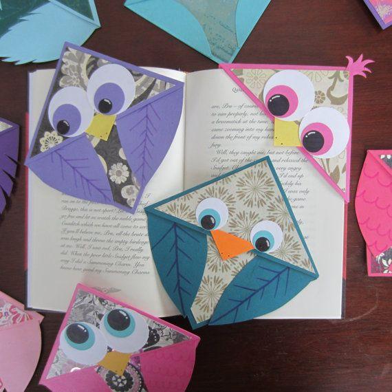 Bird Corner Bookmarks - sold on Etsy by HenstinaHandmade