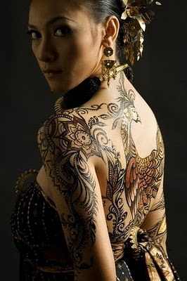 Javanese Batik Peacock Tattoo... I want something this detailed and beautiful