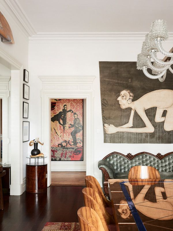 Victorian, Art Deco, MCM & bold art mix seamlessly to render a fab, rad pad ...  Sandra Powell and Andrew King — The Design Files | Australia's most popular design blog.