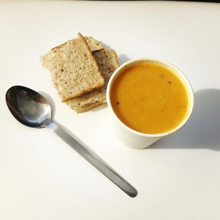 A strict lunch of organic brown bread and homemade vegetable soup. Mmmm...I miss fatty fast foods though. #healthyfood #InternationalOrganicDay #diet #soup #foodporn