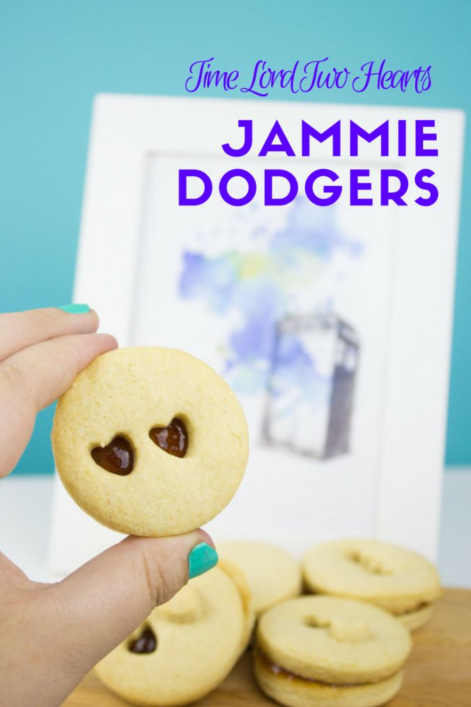 Celebrate the return of Doctor Who with these Time Lord two hearts Jammie Dodgers! Crisp and sweet for a yummy snack with tea or TARDIS themed drinks!