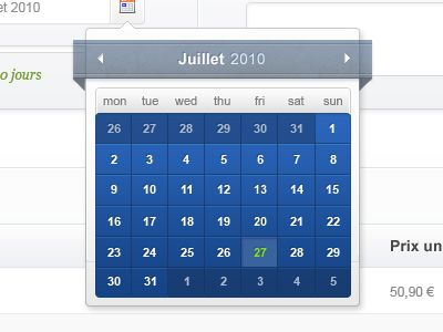Rich colors in calendar