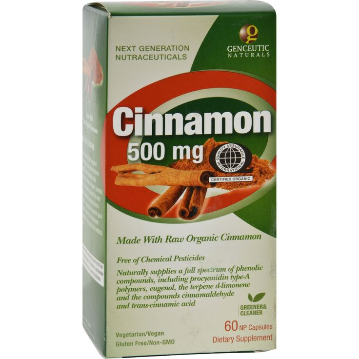 Genceutic Naturals Organic Cinnamon - 500 mg - 60 Capsules - Genceutic Naturals Organic Cinnamon Description:    Advanced Bio-Active Plant Compound  Made With Organic Cinnamon  Extracted from Non GMO Cinnamon  Free of Toxic Chemical Pesticides Herbicides Fungicides and Synthetic Fertilizers  Naturally Contains a Full Spectrum of Polyphenolic Compounds Including: Methylhydroxy Chalcone Polymer (MHCP) Cinnamaldehyde Eugenol Trans-Cinnamic Acid and D-Limonene Due to numerous scientific…