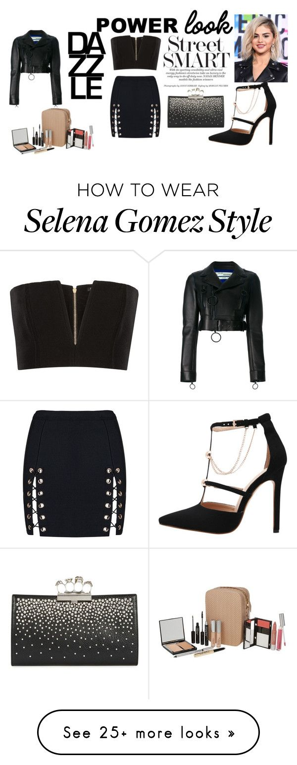 """""""grab  your jacker"""" by sunshine-189 on Polyvore featuring Balmain, Off-White, Alexander McQueen, Trish McEvoy, girlpower and powerlook"""
