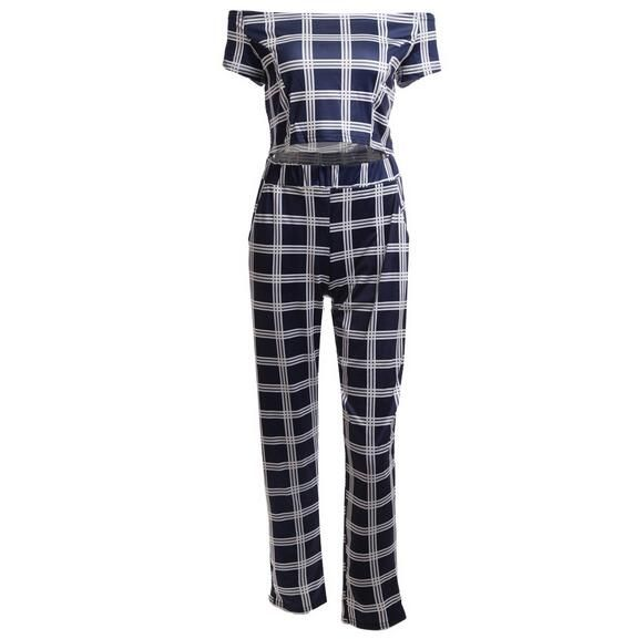 Women classic grid short sleeve tops + pants set women's fashion slim jumpsuits lady's bodycon rompers woman clothes suit     Tag a friend who would love this!     FREE Shipping Worldwide     Buy one here---> http://oneclickmarket.co.uk/products/women-classic-grid-short-sleeve-tops-pants-set-womens-fashion-slim-jumpsuits-ladys-bodycon-rompers-woman-clothes-suit/
