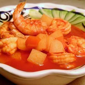 Receita de Caldo de camarão mexicano