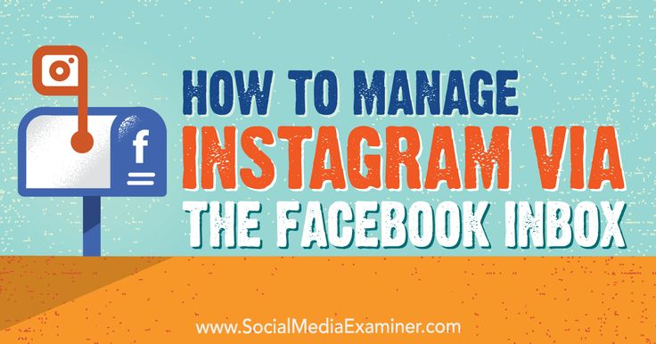 How to Manage Instagram via the Facebook Inbox http://www.socialmediaexaminer.com/how-to-manage-instagram-via-facebook-inbox?utm_source=rss&utm_medium=Friendly Connect&utm_campaign=RSS @smexaminer