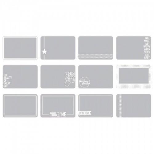 """PROJECT LIFE 4""""X6"""" - PHOTO OVERLAYS 380282 - SET #3 (12 STK)Pakke med blanke/gjennomsiktige kort i størrelsen 10,2cm x 15,2cm som passer til plastlommene tilPROJECT LIFEserien fraAMERICAN CRAFTS. Legges over bilder for å skape en fin effekt, hvert kort har ulik design i hvitt.Pakken inneholder 12 stk.  AMERICAN CRAFTS-Photo Overlays.Project Life is the quick and easy way to scrapbook! It is about simplifying the process of memory-keeping to save ..."""