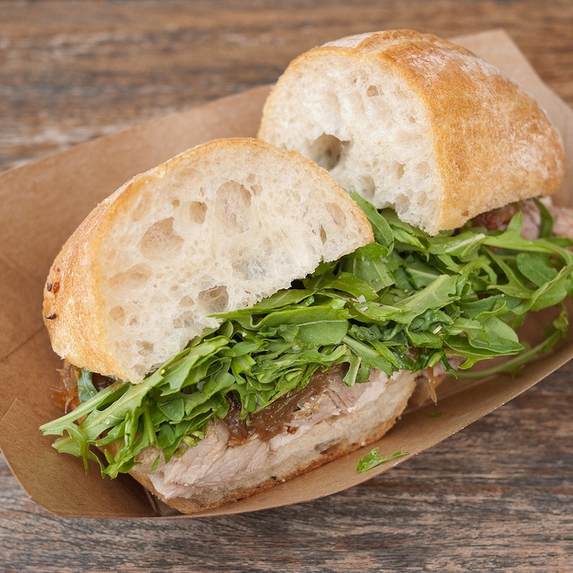 Porchetta Sandwich @ Roli Roti at the Ferry Building Farmer's Market by aqhong, via Flickr.  i need to try this one day