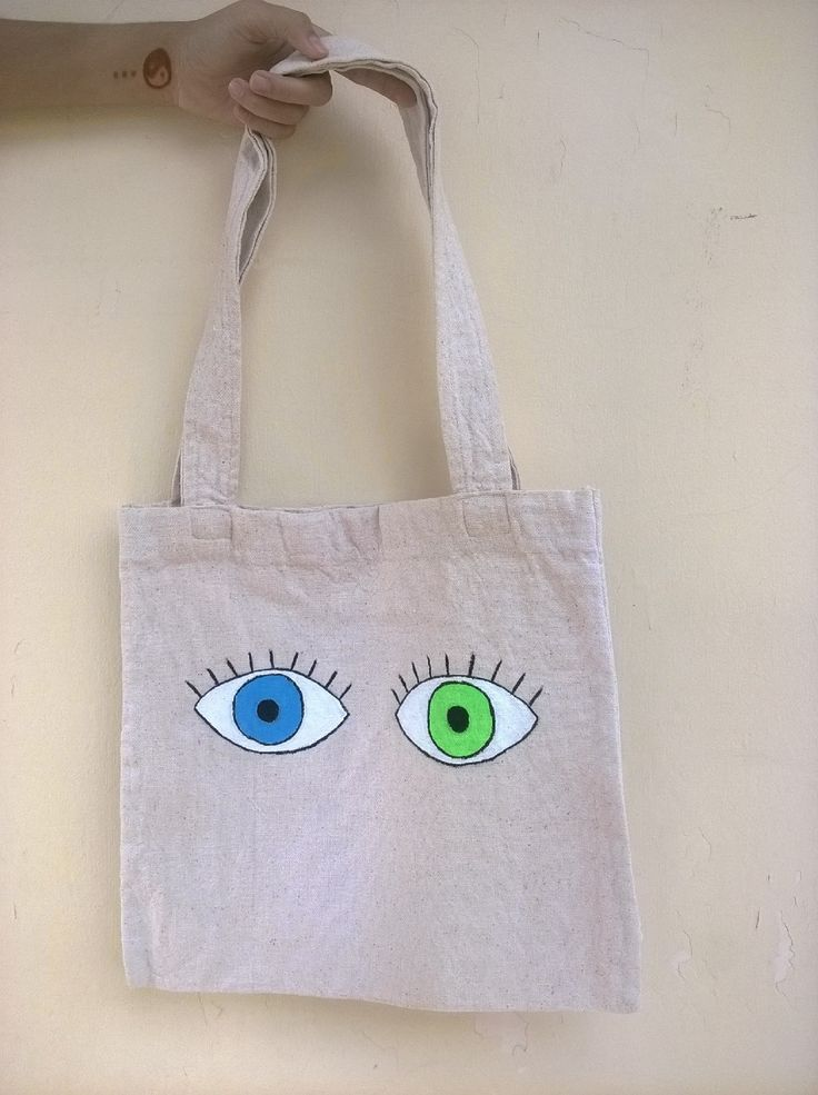 instagram : @nstyle_bdg #nstyle #style #totebag #tote #canvas #acrylic #painting #eyes #blue #green #woman #girls #fashion #handmade #handcraft
