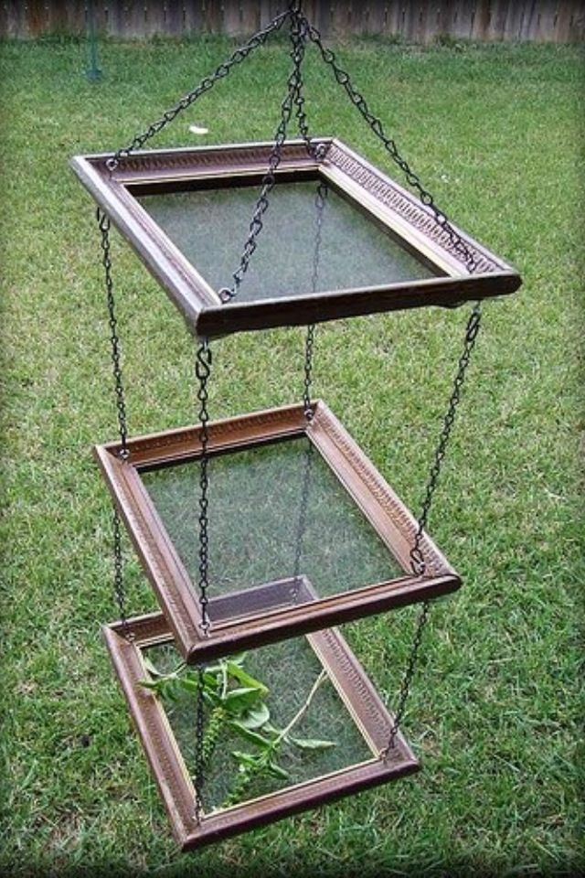 Herb drying racks out of old picture frames! Just staple on some window screen netting.