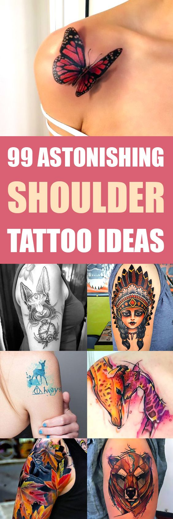 Shoulder tattoo designs are very popular with men. They're frequently chosen to represent masculinity, and stand as a testament/display of...