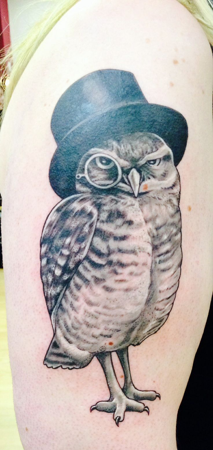 My Owl with Top Hat and Monocle