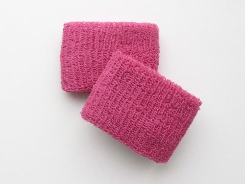 hot pink sweatbands / wristbands