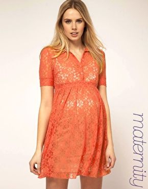 love this lace maternity dress