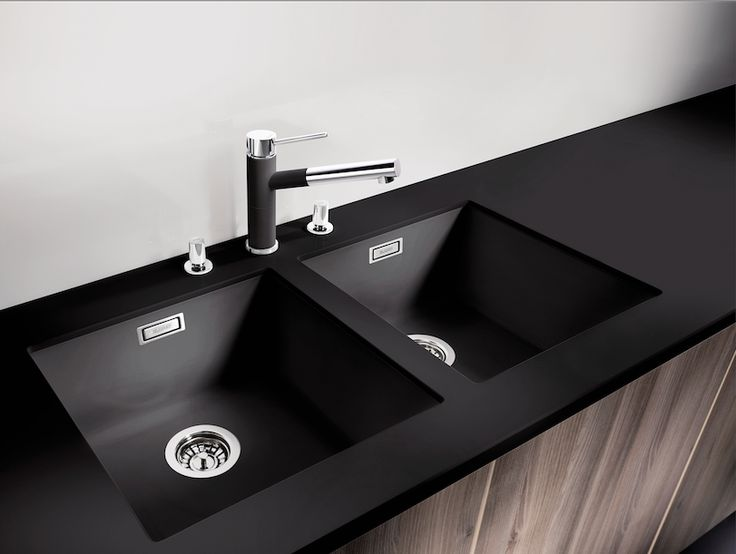 Blacno Taps & Sinks. Subline 400 u black.