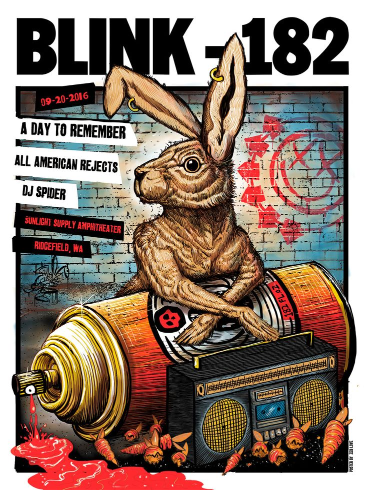 Zeb Love did his first ever blink 182 poster for the show in Ridgefield, WA last week and now you will be able to get your hands on t...