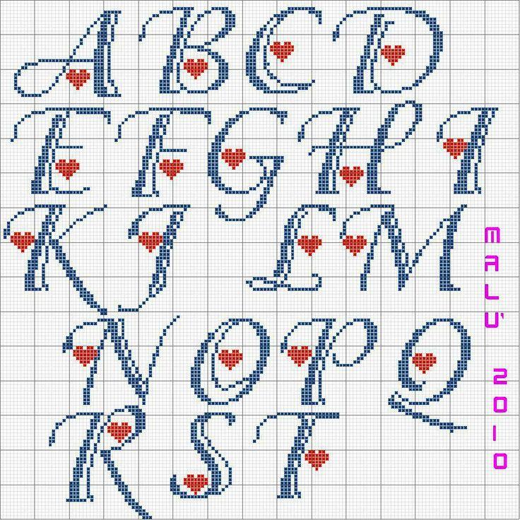 Alfabeto Adorable con cuori