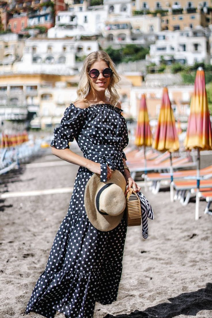 Polka dots, cult Gaia, summer outfit, Maxi dress, Blogger style, summer trends 2017, Sommer