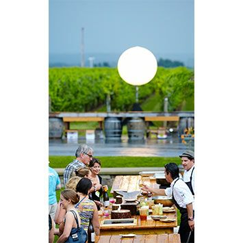 """""""8 Chefs. 8 Grills."""" - the kick-off event at Trius Winery at Hillebrand."""