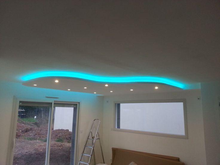 Photos de faux plafond avec lumière indirecte - Groupes - abgehängte decke küche