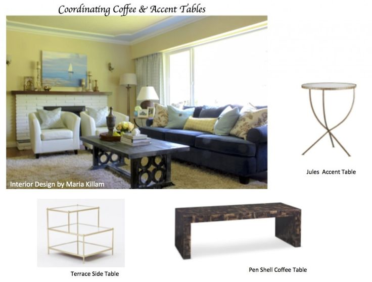 How to Coordinate Coffee & Accent Tables Like a Designer | Maria Killam