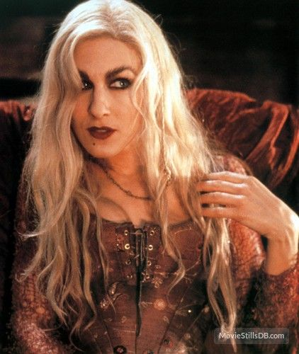 Hocus Pocus. This is a little too romantic for me but I love her hair and makeup in this movie!