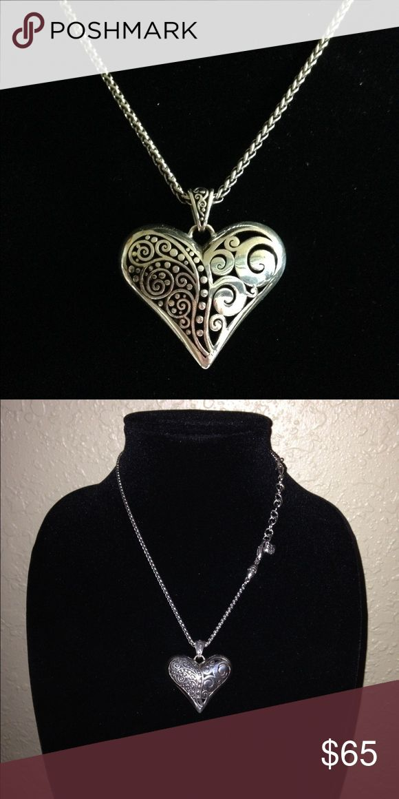 Brighton heart necklace Silver 18 inch Brighton heart necklace Brighton Jewelry Necklaces
