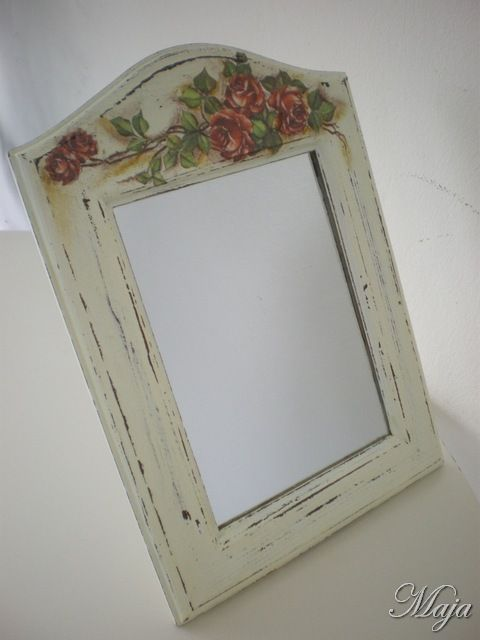 Mirror with decoupage and shabby chic~Καθρέπτης με decoupage και shabby chic